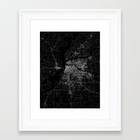 memphis Framed Art Prints featuring Memphis map by Line Line Lines