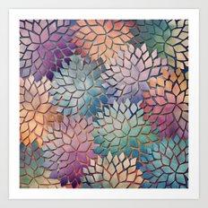 Abstract Floral Petals 4 Art Print