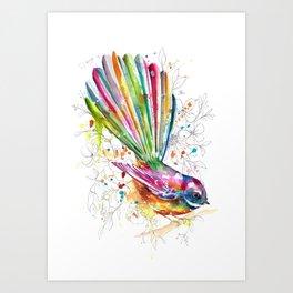 Sketchy Fantail Art Print