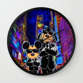 Mickey Mouse and Goofy Wall Clock
