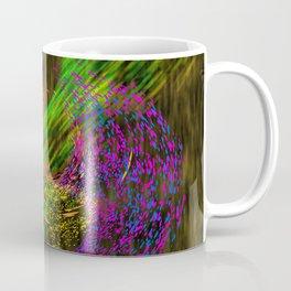 Turbulence colored and gold Coffee Mug
