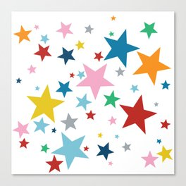Stars Small Canvas Print