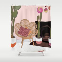 Bohemian Living Room Shower Curtain