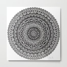 BULLSEYE No. 1 Mandala Drawing Metal Print