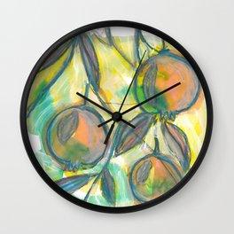 Vibrant color pomegranate 2/9 Wall Clock