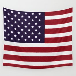 USA flag - Painterly impressionism Wall Tapestry