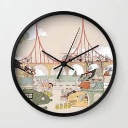 City of animamaly Wall Clock