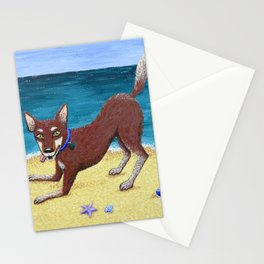 Red Dog Playing Stationery Cards
