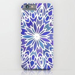 Mandala Vivid Blue iPhone Case