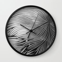 Red composition of multiple directional lines. Wall Clock