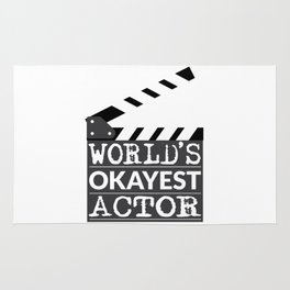 Funny Actor Gift - World's Okayest Actor Rug