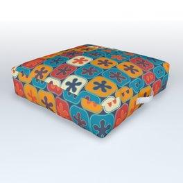 Blobs and tiles Outdoor Floor Cushion