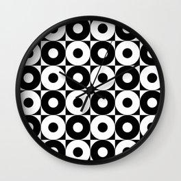 black & whit pattern Wall Clock