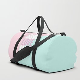 Pastel Candy 'SUMMER LOVE' - Pink & Turquoise Duffle Bag