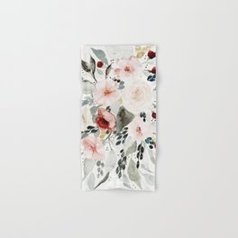 Loose Watercolor Bouquet Hand & Bath Towel