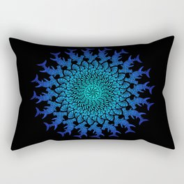 Ombre Tribal Hammerhead Mandala Rectangular Pillow