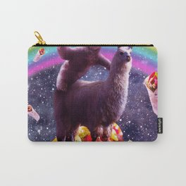 Space Sloth Riding Llama Unicorn - Taco & Burrito Carry-All Pouch
