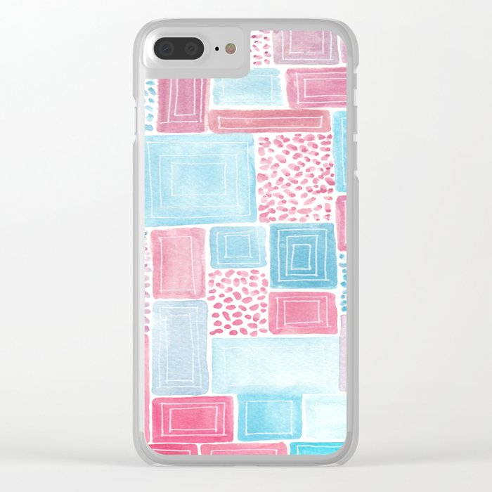 Geometric improvisation Clear iPhone Case