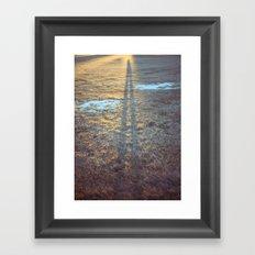 sundown shadow Framed Art Print