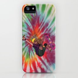 SKATER JESUS WITH BEER AND EL BARTO TATTOO iPhone Case