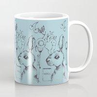 indie Mugs featuring Indie Rabbit by AurorA