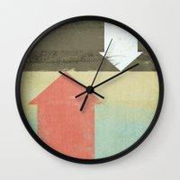 arrows Wall Clocks featuring Arrows by Metron