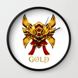 League of Legends Gold Tier Wall Clock
