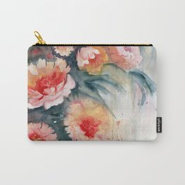 Floral Impressionist Watercolor Carry-All Pouch
