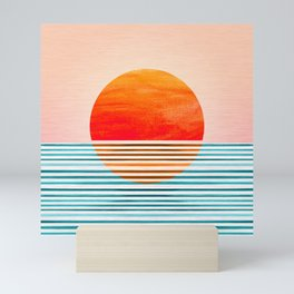 Minimalist Sunset III Mini Art Print