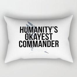 Humanity's Okayest Commander Rectangular Pillow