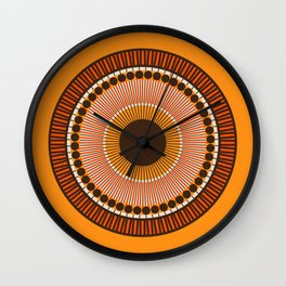 Tiger Eye Mandala Wall Clock