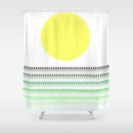 Sunset @ Sunrise (Green) Shower Curtain