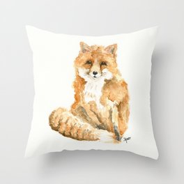 Phineas the Fox Throw Pillow