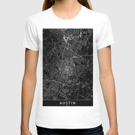 Austin Black Map T-shirt