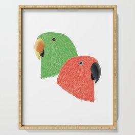 Eclectus Parrots Serving Tray