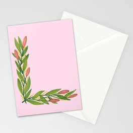 Leafy Letter L Stationery Cards