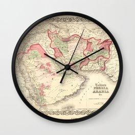 Colton's Map of Persia Arabia (1865) Wall Clock