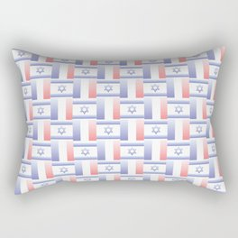 Mix of flag : france and israel 2 with color gradient Rectangular Pillow