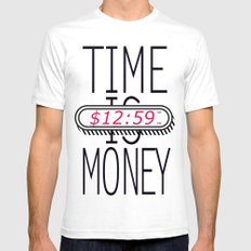 Time is Money SMALL Mens Fitted Tee White