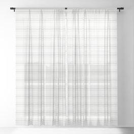 Creamy Tofu White Mattress Ticking Wide Striped Pattern - Fall Fashion 2018 Sheer Curtain