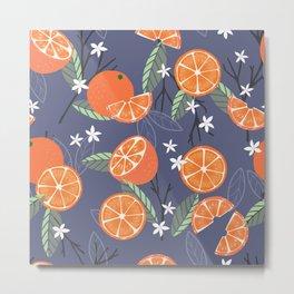Orange pattern 01 Metal Print