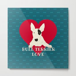 Bull Terrier Love Metal Print