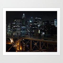 New York by nightII Art Print