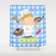 Chef Shower Curtain