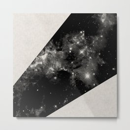 Expanding Universe - Abstract, black and white space themed design Metal Print