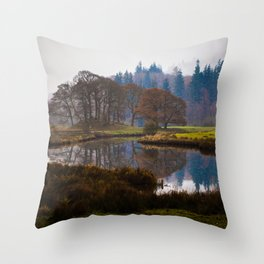 Still lake Throw Pillow