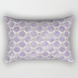 Roses & Forget Me Nots Wreath Purple Rectangular Pillow
