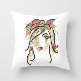 'Kate' Illustration Throw Pillow