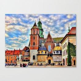 Cracow wawel castle Canvas Print