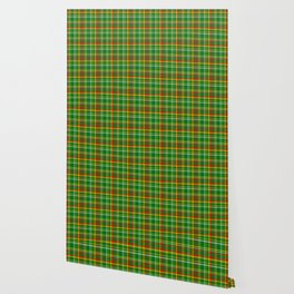Green Red Yellow and White Plaid Wallpaper
